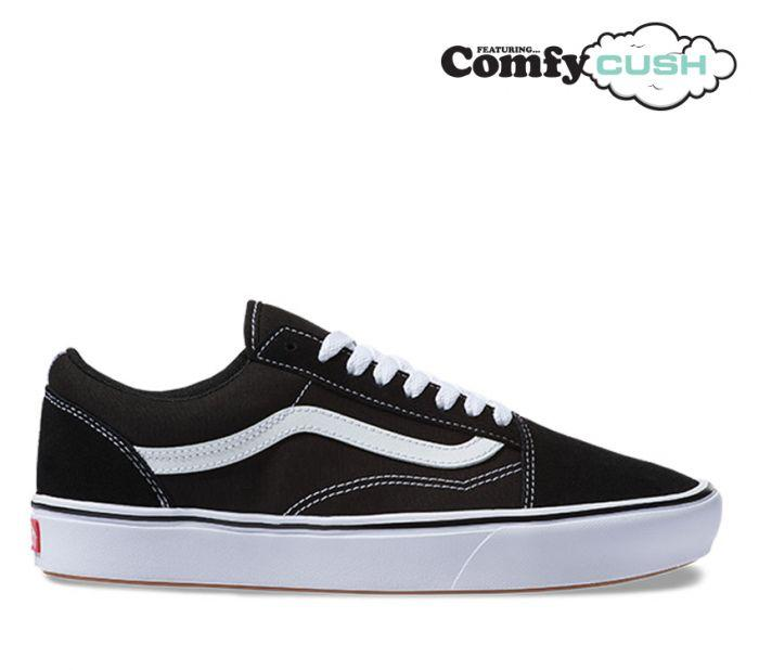 c08ea1df27d Shop Vans UA COMFYCUSH OLD SKOOL BLK WHT