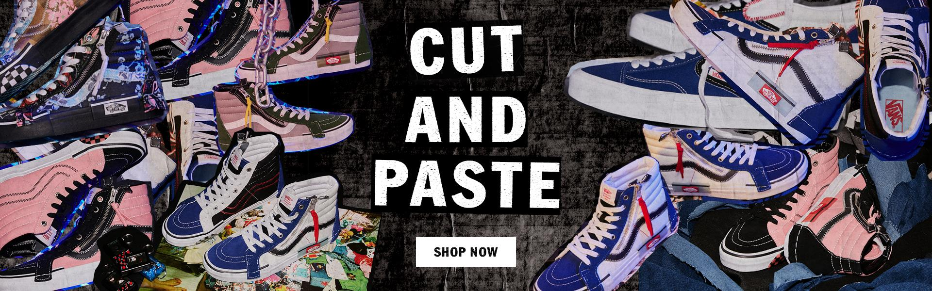 SHOP VANS CUT AND PASTE